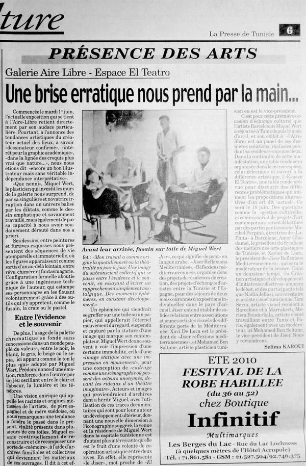 La Presse de Tunisie 6 Juin 2010 Selima Karoui